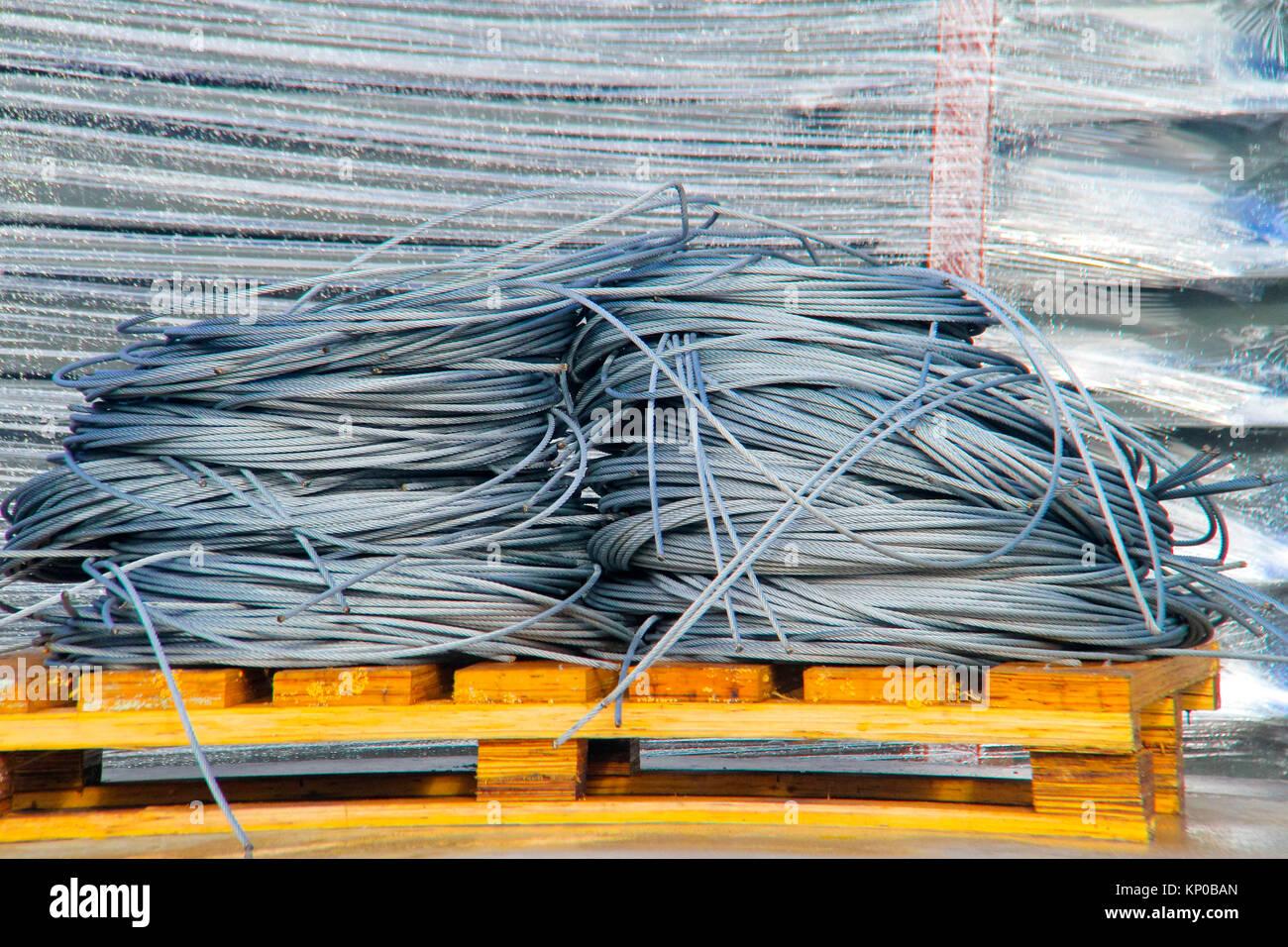 Draht aus Stahl oder Stahl Seil oder Drahtseil Kabel oder Drahtseil ...