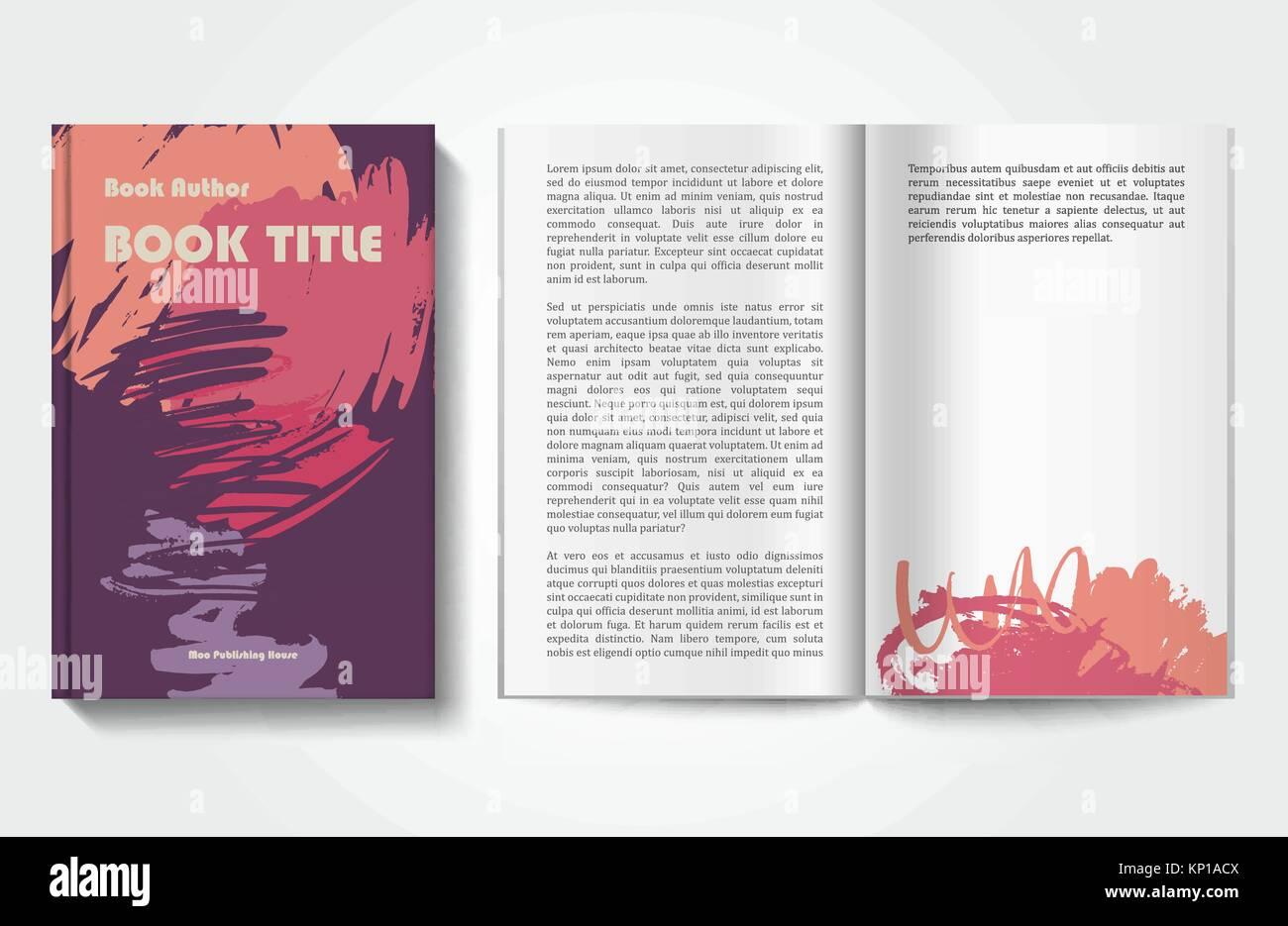 Buch-Design-Vorlage Vektor Abbildung - Bild: 168445898 - Alamy