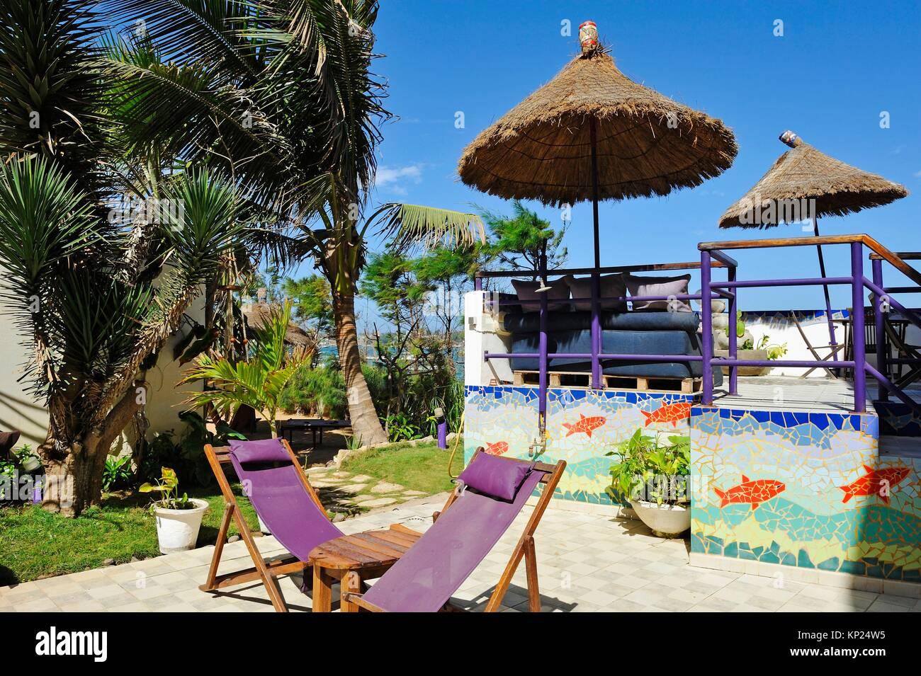 Abaka guesthouse, Ngor, Dakar, Senegal, Westafrika. Stockbild