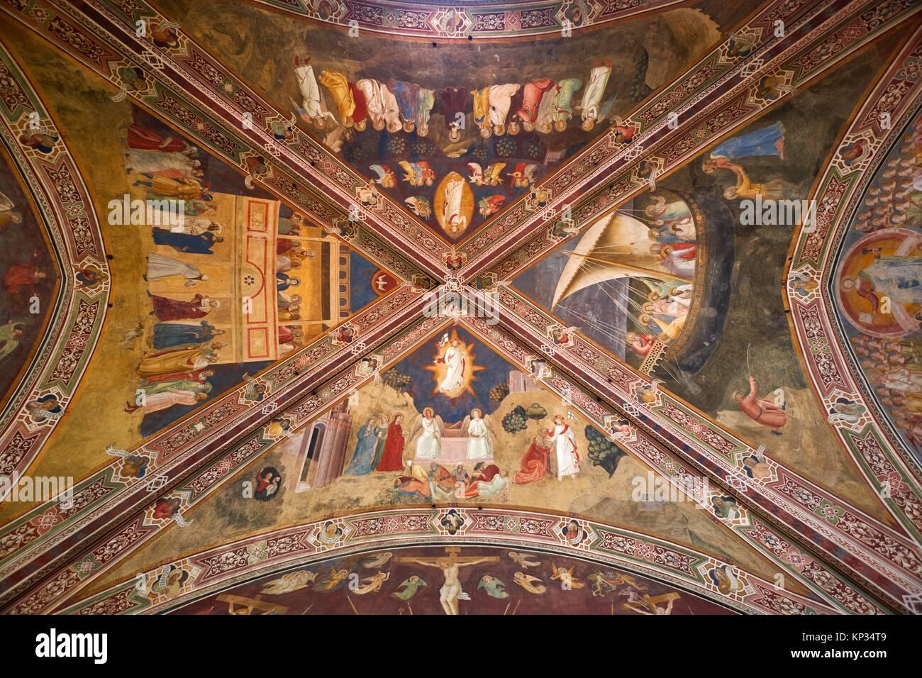 Die spanische Kapelle (oder Cappellone degli Spagnoli) ist der ehemalige Kapitelsaal des Klosters, der Kirche Santa Stockfoto