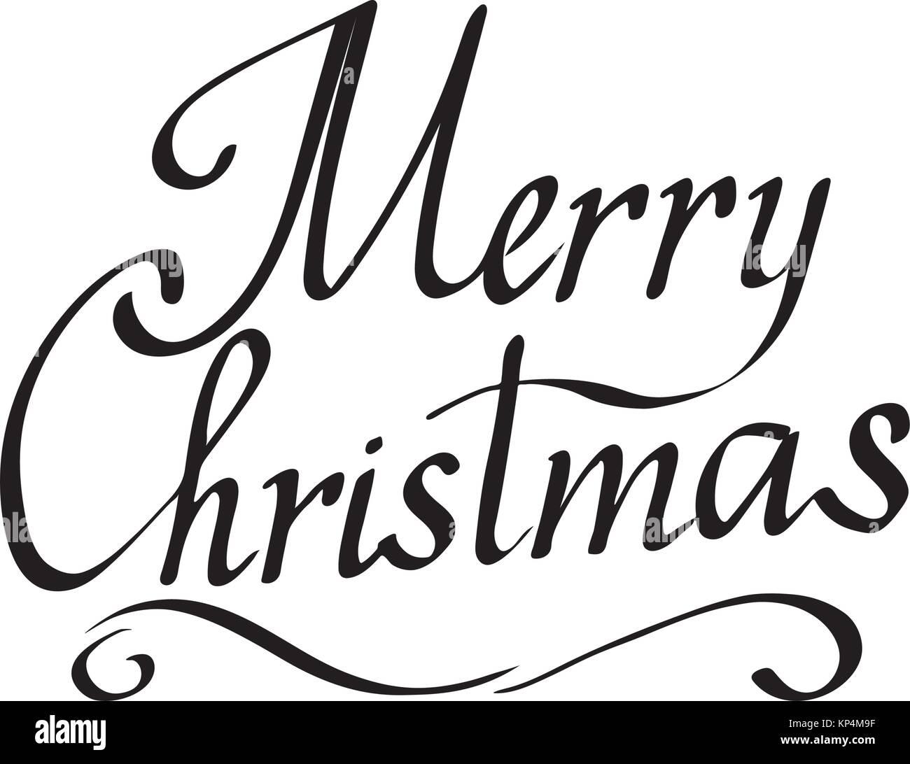 Frohe Weihnachten Text Vektor Auf Weißem Hintergrund. Beschriftung Für  Einladung, Hochzeit Und Grußkarte,