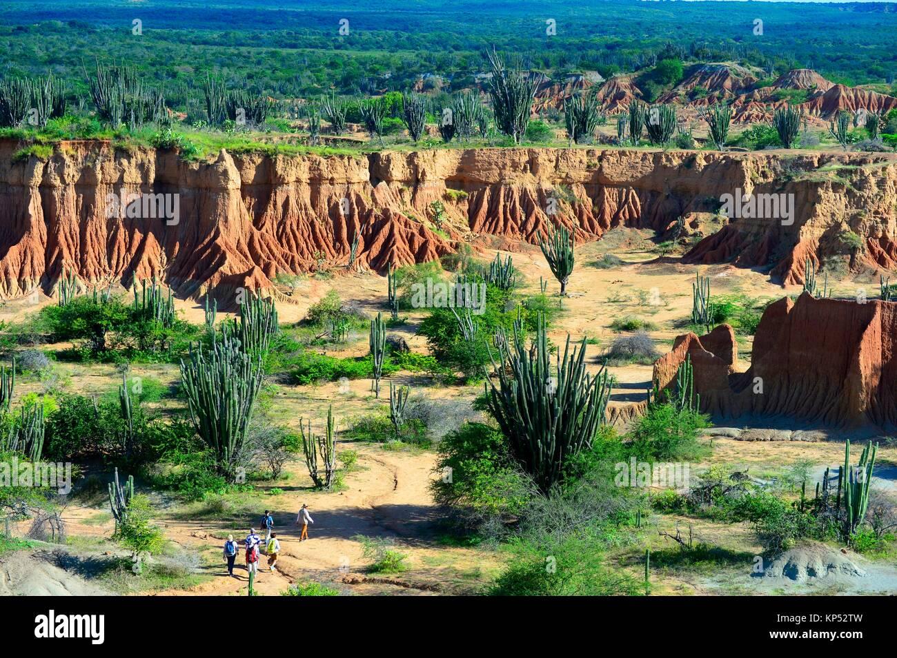 Red Hills der Tatacoa Wüste in Huila, Kolumbien, Südamerika. Stockbild