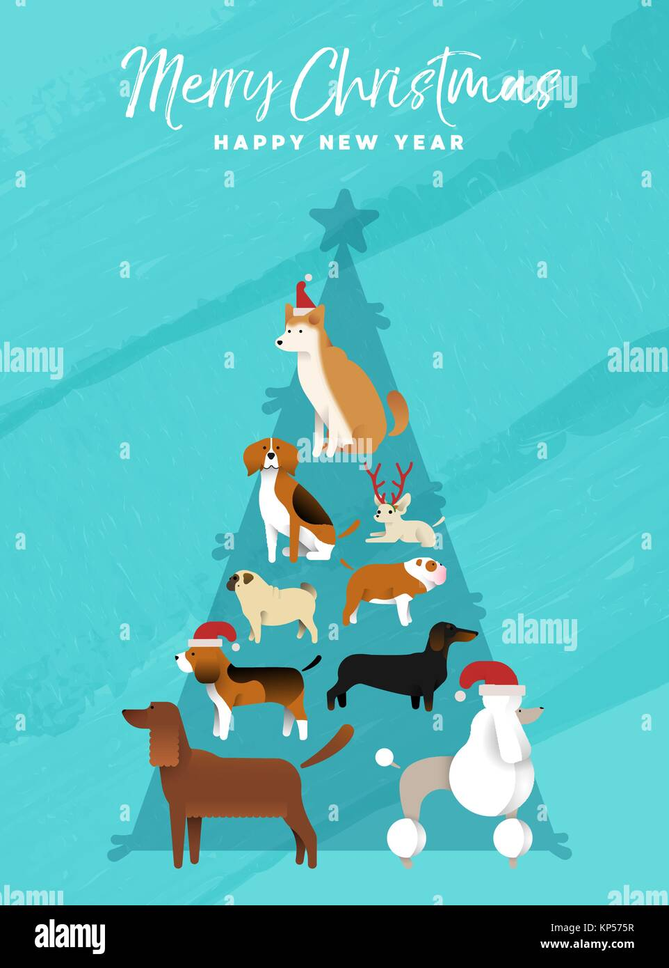 Frohe Weihnachten Frohes Neues Jahr Spaß Urlaub Grußkarte Abbildung ...