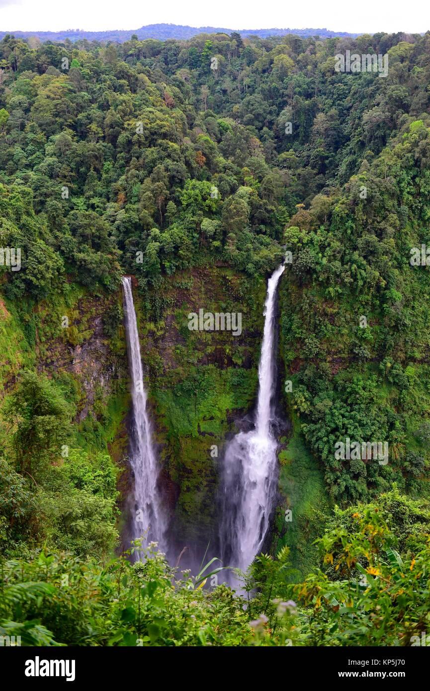 Tad Fane Wasserfall, Bolaven Plateau, Pakse, Laos, Südostasien. Stockfoto