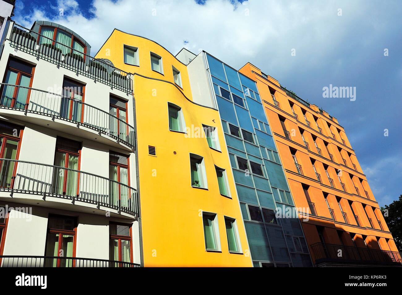 Zeitgenössische Architektur. Berlin, Deutschland Stockfoto, Bild ...