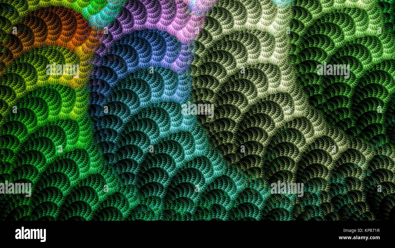 Abstrakt fractal Textur computer-generierten Bildes Stockbild