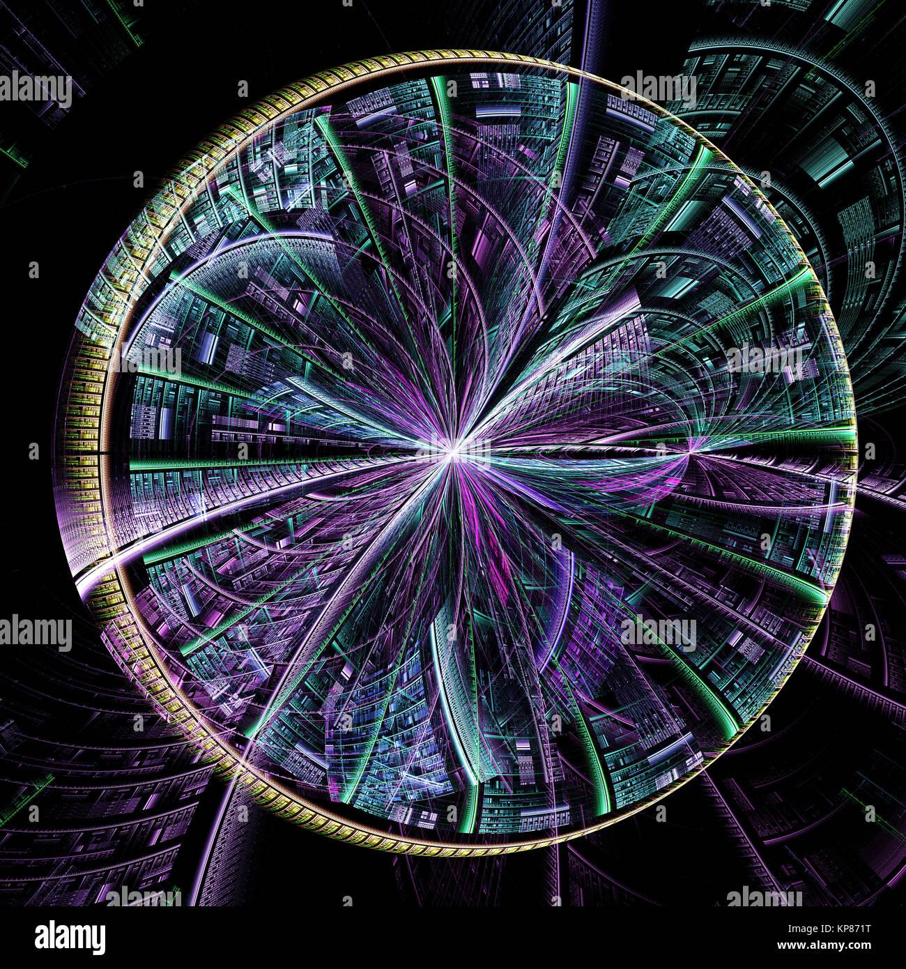 Abstrakt fractal tech Hintergrund computer-generierten Bildes Stockbild