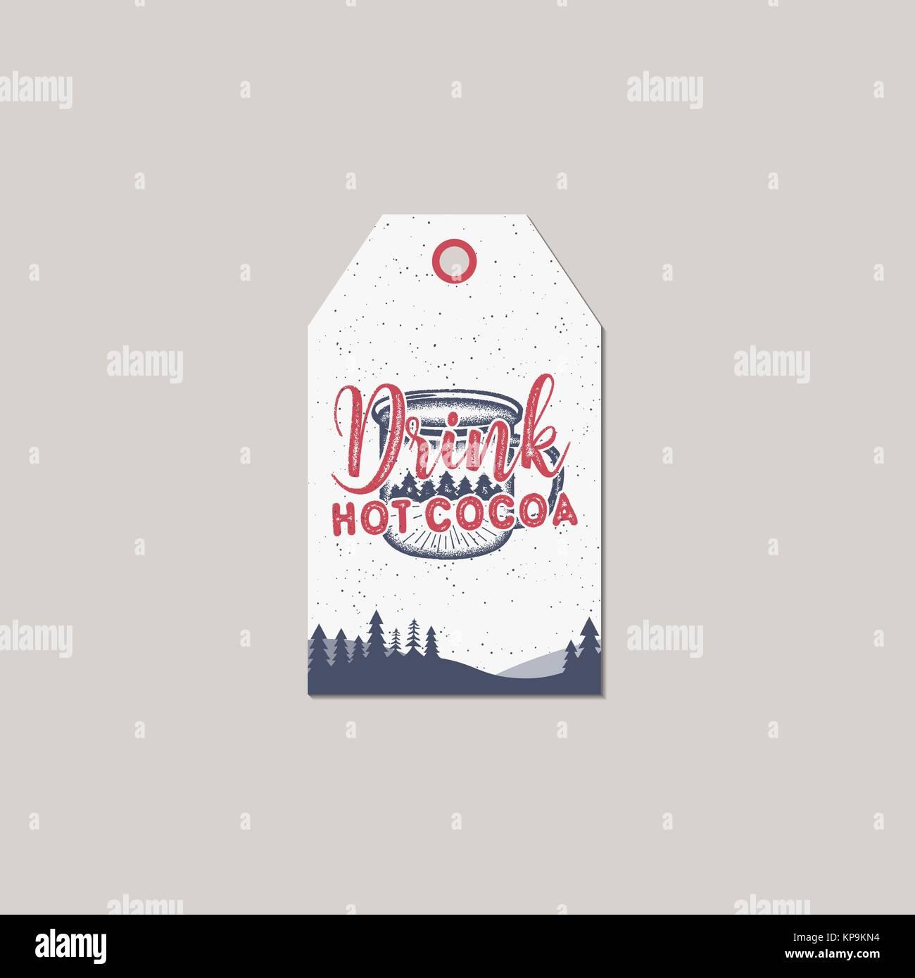 Frohe Weihnachten und Neues Jahr Geschenkanhänger. Holiday card ...
