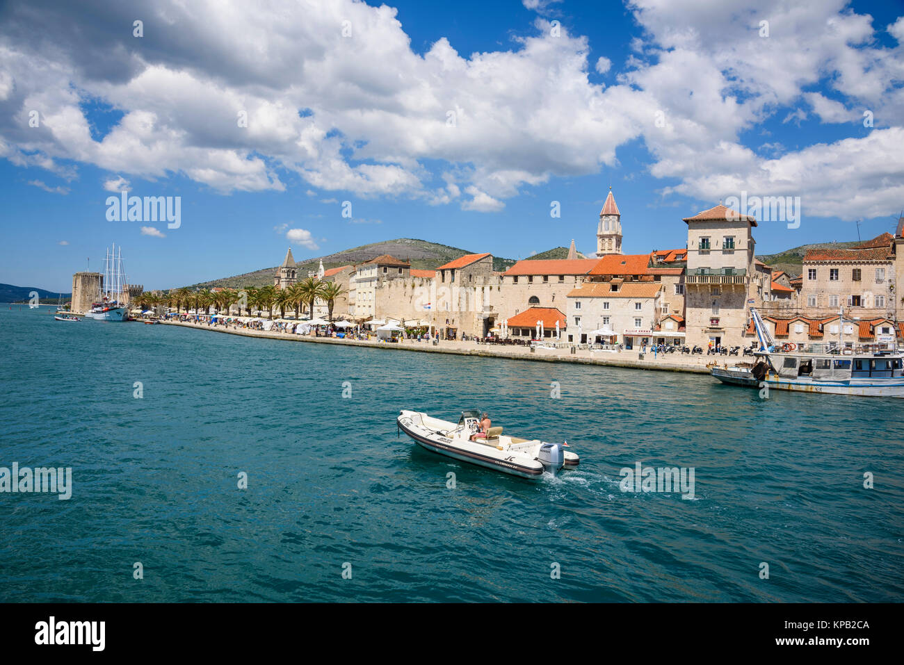 Altstadt von Trogir, Kroatien Stockbild