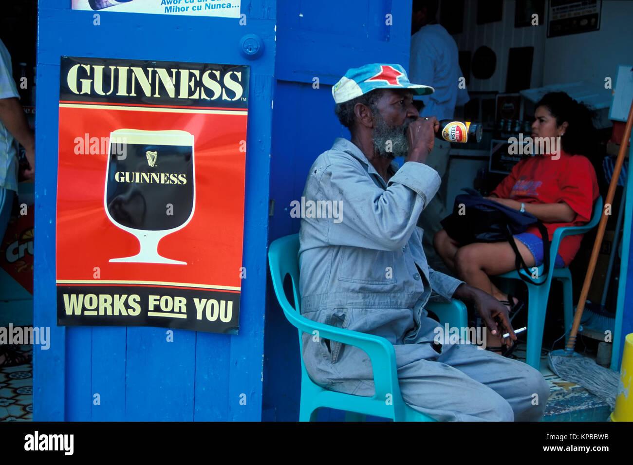 San Nicolas, Bar, Aruba, Niederländische Antillen Stockbild