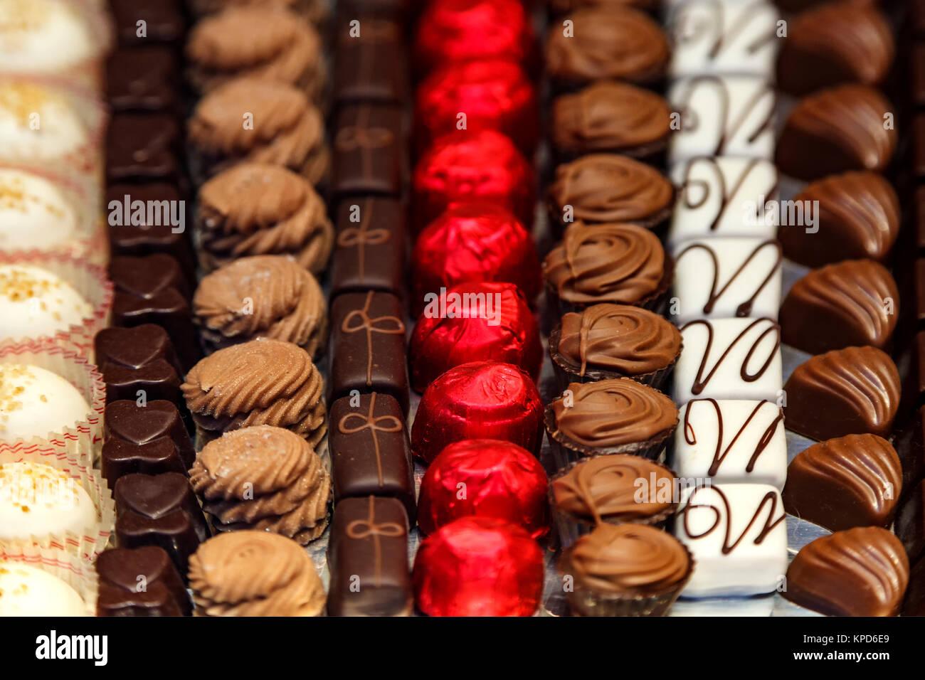 Schokolade anzeigen, Brüssel, Belgien Stockbild