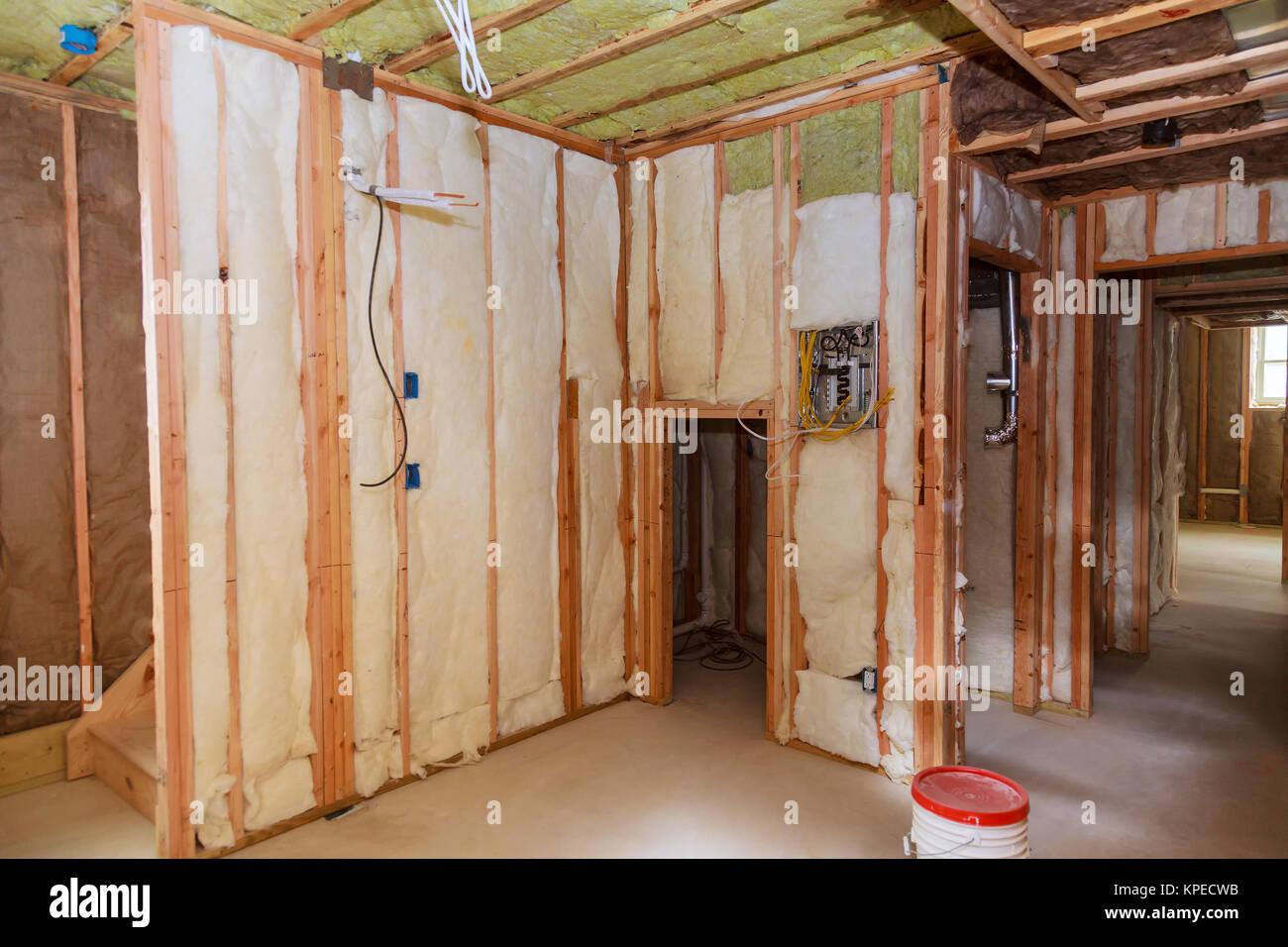 House Insulation Installation Stockfotos & House Insulation ...