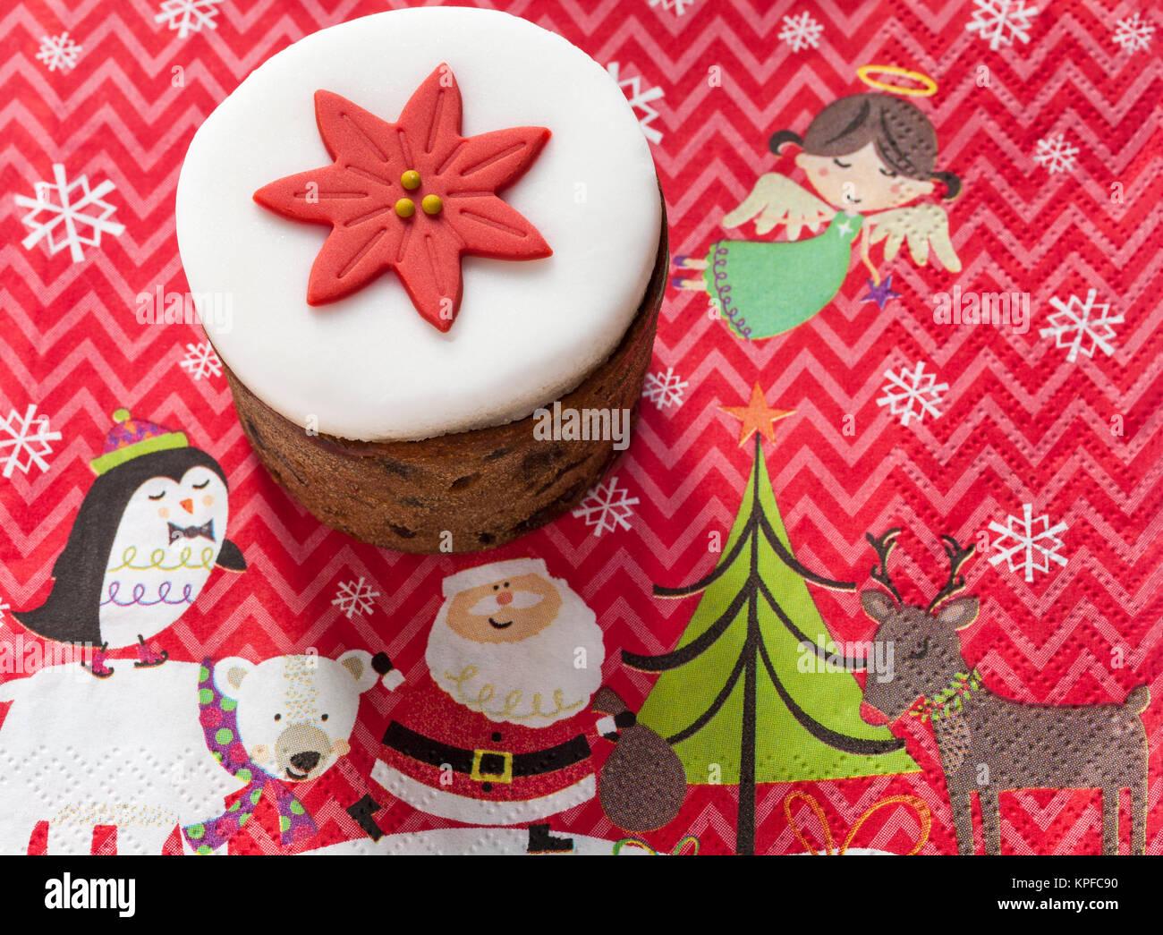 Tesco Mini Top Iced Christmas Cake Reiche Frucht Kuchen Mit Glace