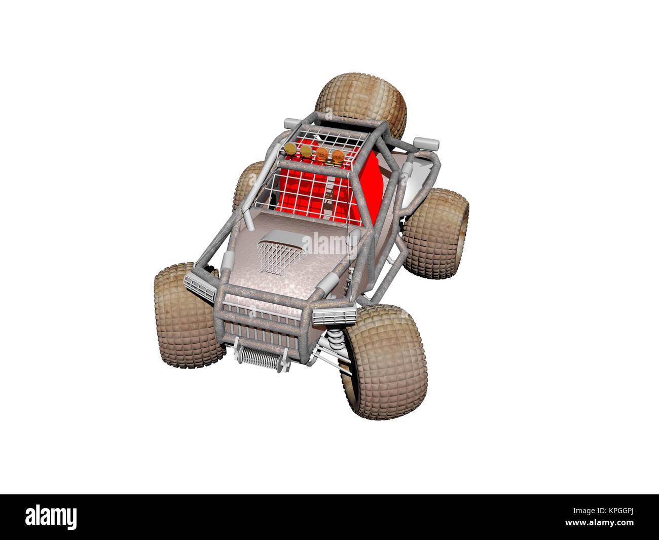 Optionale quad Fahrzeug Stockbild