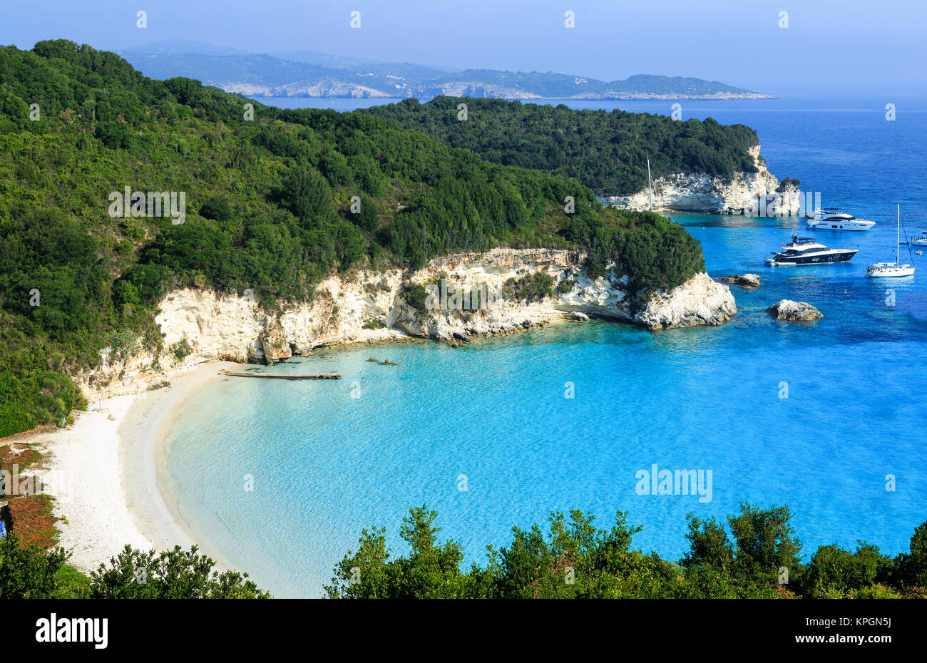Voutoumi Strand Antipaxos Griechenland Stockfoto Bild 168783598