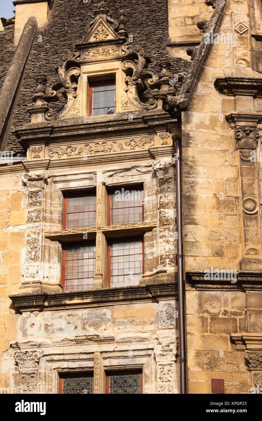 Frankreich, Aquitanien, Dordogne, Sarlat-la-Caneda, Maison de La Boetie, b. 1525 Stockbild