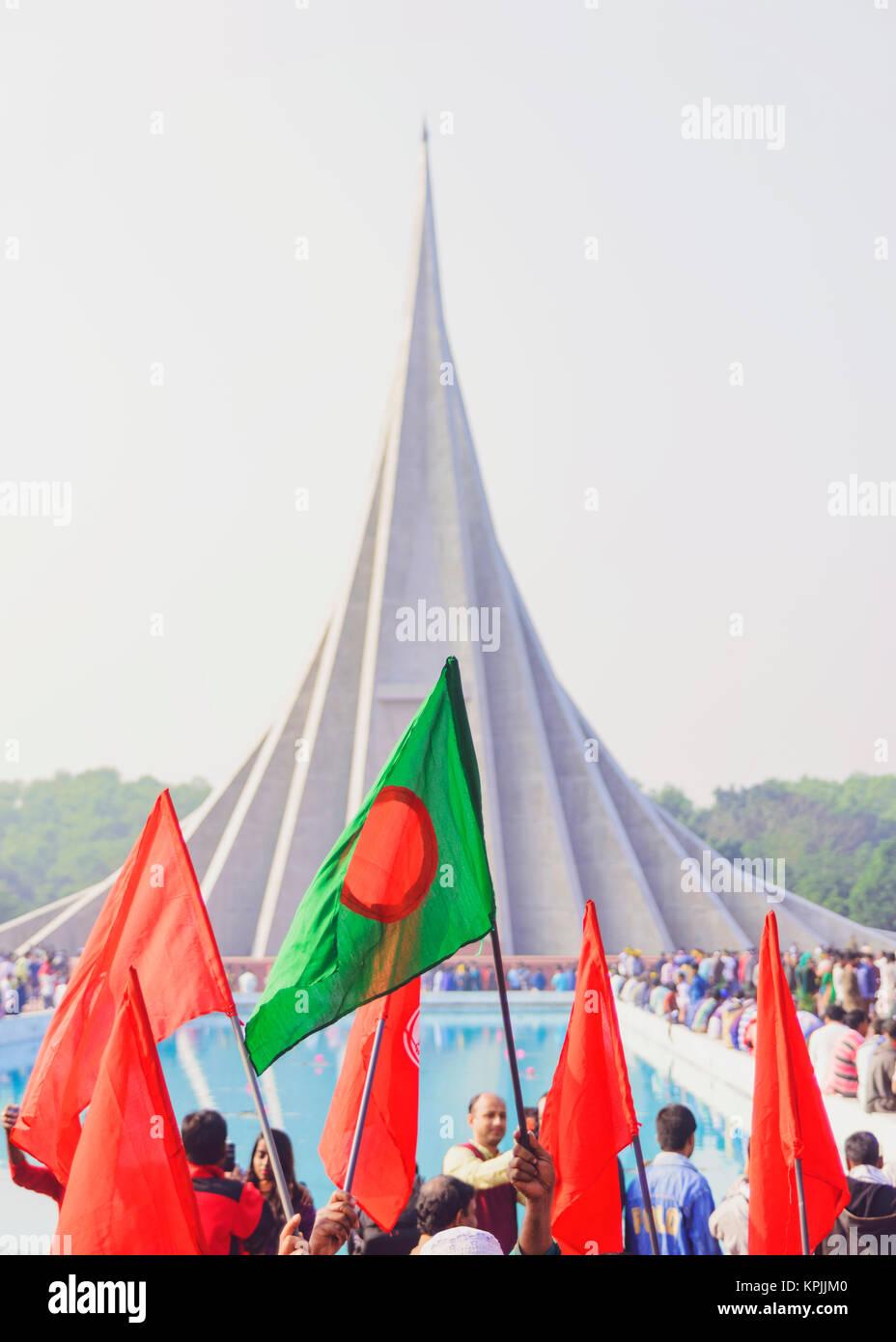 Der Tag des Sieges feiern in Bangladesch Stockbild
