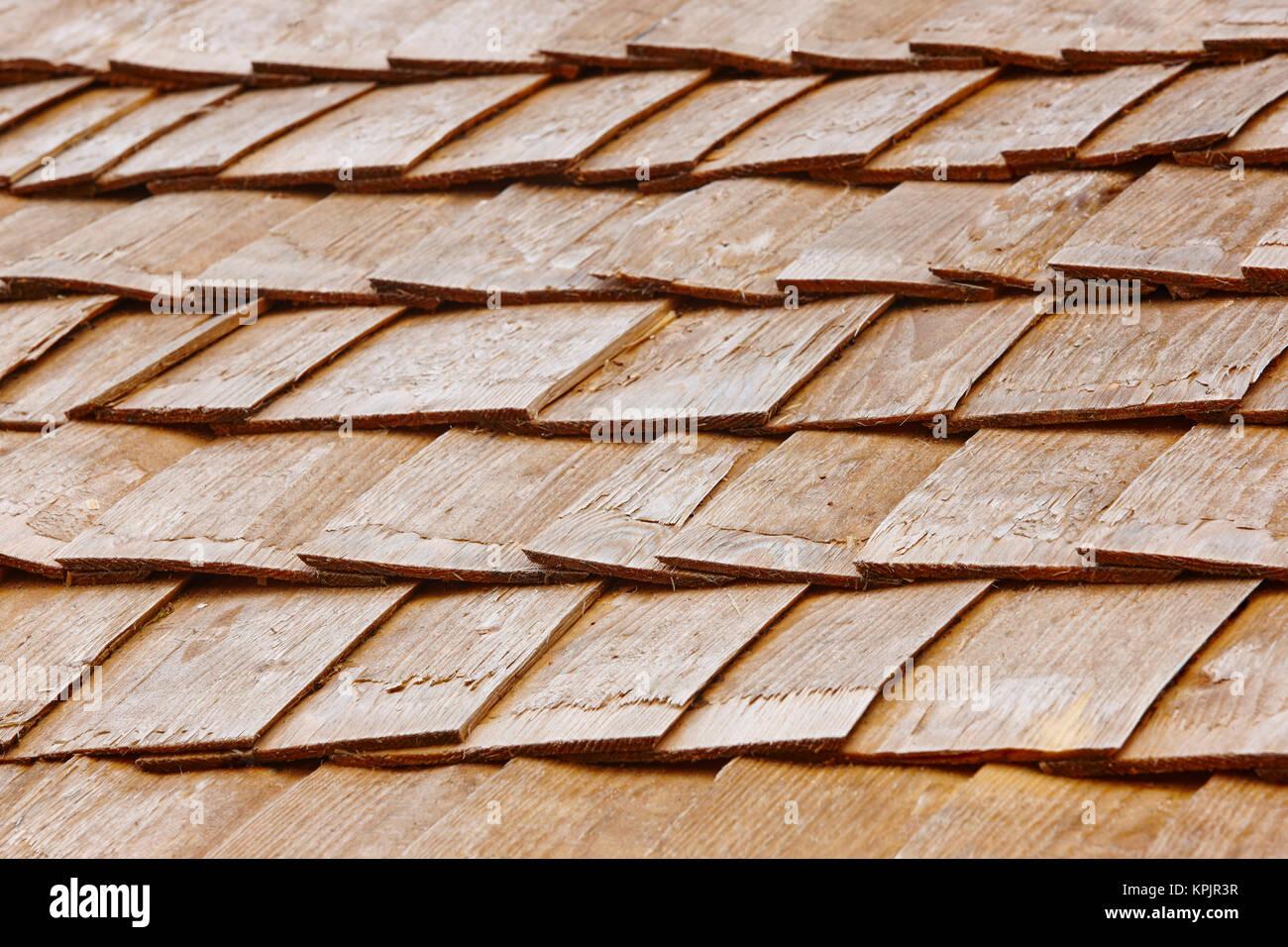 Holz schindel fliesen auf einem dach finnland traditionelle konstruktion horizontale stockfoto - Fliesen auf holz ...