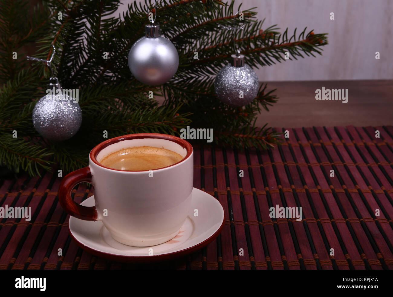 Guten Morgen Oder Schönen Tag Noch Frohe Weihnachten Tasse Kaffee