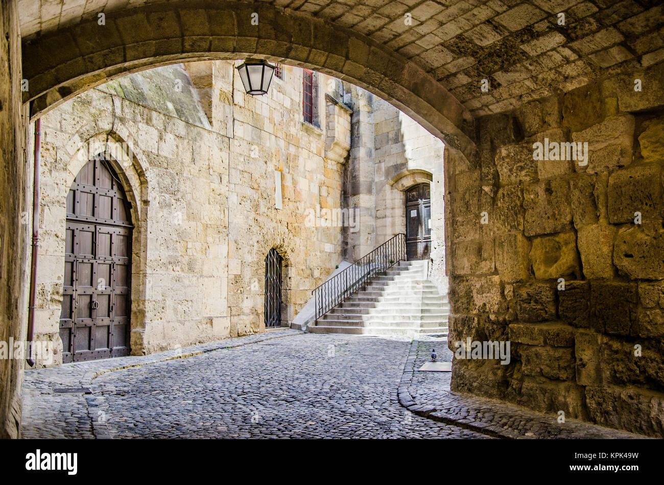 Bild im historischen Zentrum der Altstadt von Narbonne, in der französischen Region Languedoc-Rosellon, können Stockbild