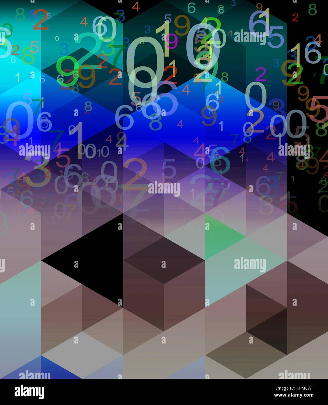Zahlen abstrakt Konzept Grafik Stockbild