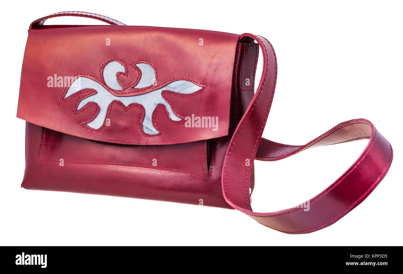 dunkle kirsche farbe handtasche von applique eingerichtet stockfoto bild 168901409 alamy. Black Bedroom Furniture Sets. Home Design Ideas