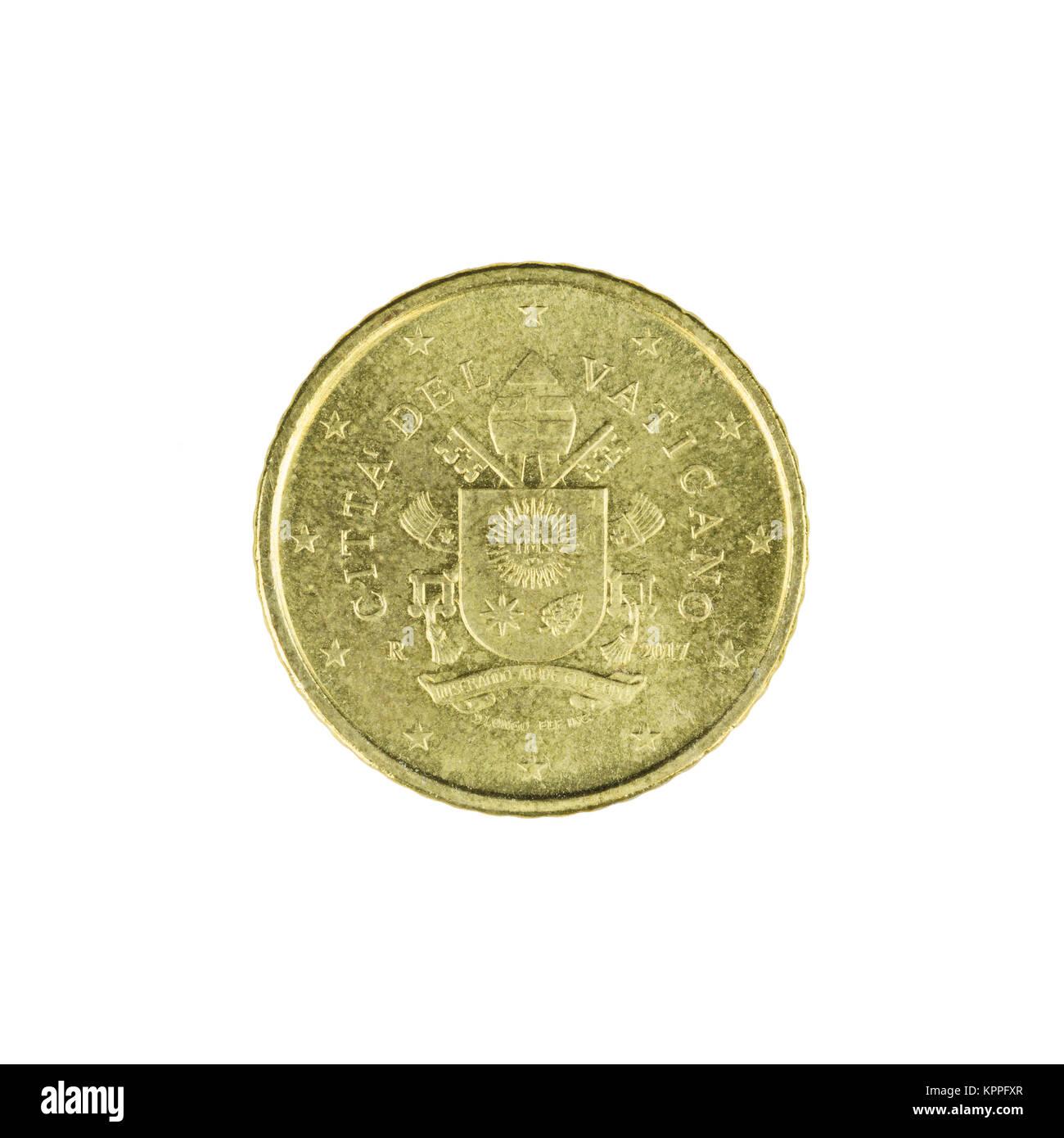 Fünfzig Euro Cent Münze Stockfotos Fünfzig Euro Cent Münze Bilder