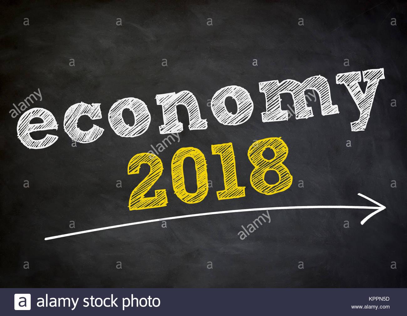 Wirtschaft 2018 Stockbild