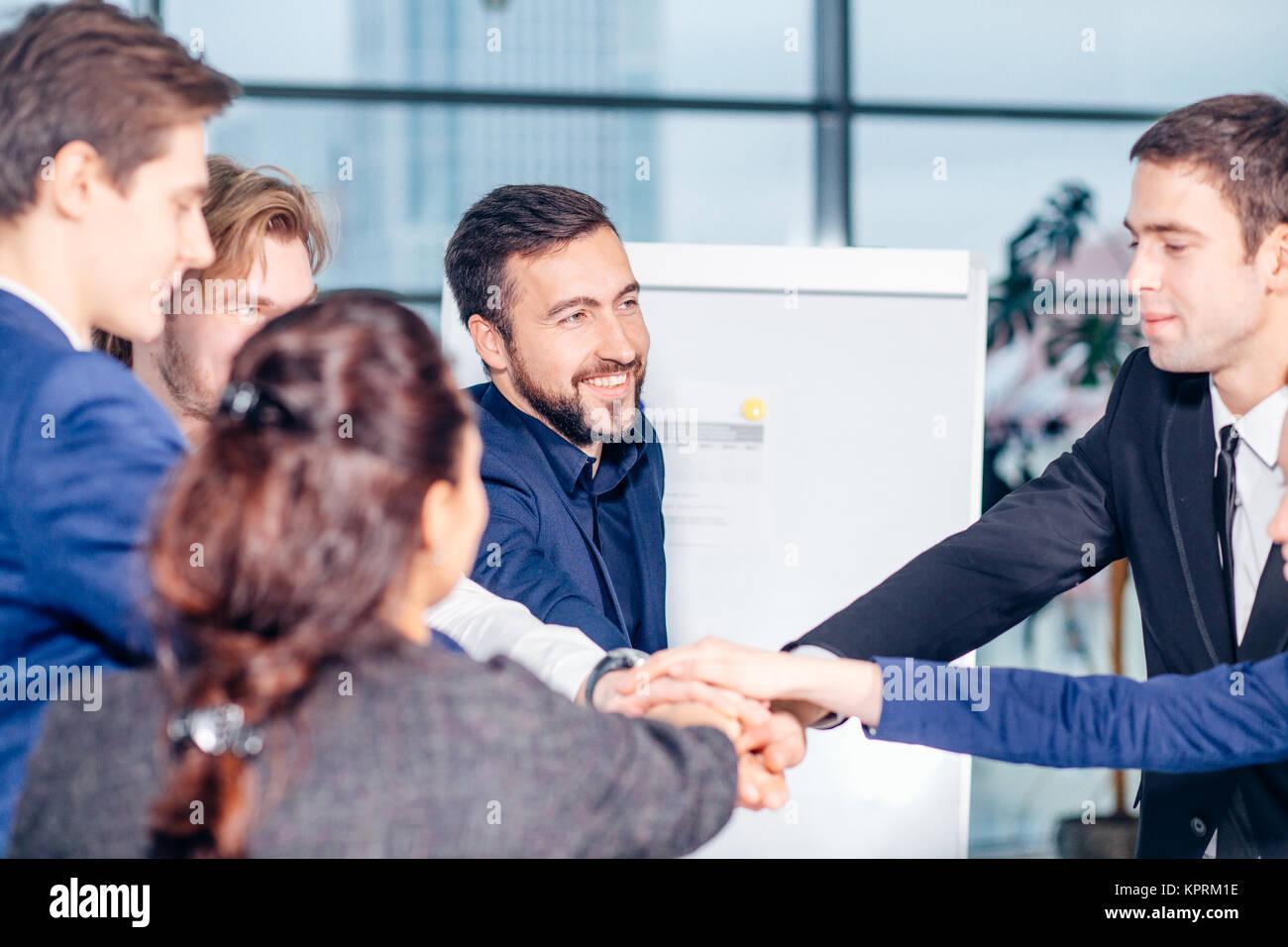 Menschen Teamwork Zusammenarbeit Beziehung Geschäftskonzept Stockbild