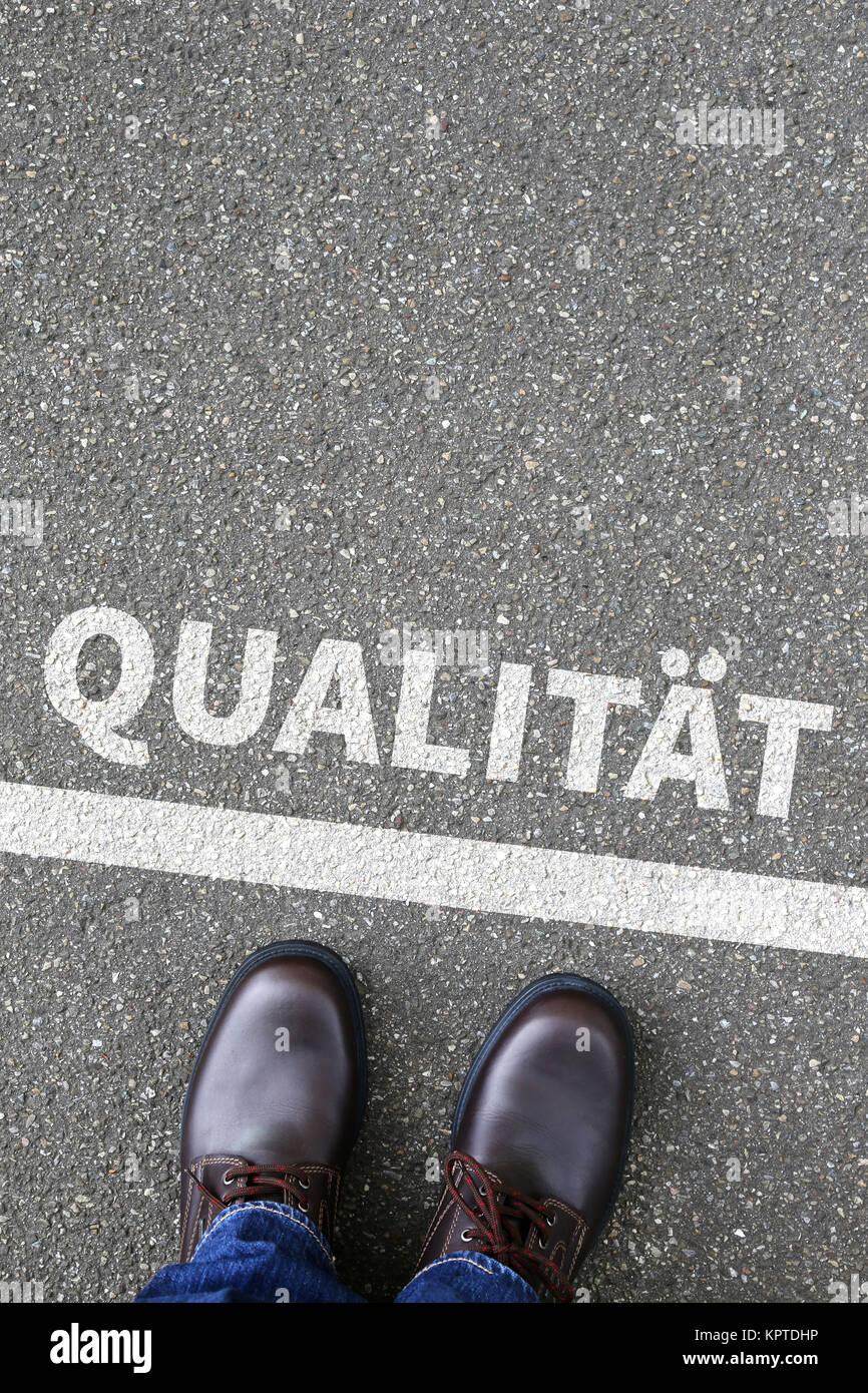 Qualität Kontrolle und Management Business Konzept QM Stockbild