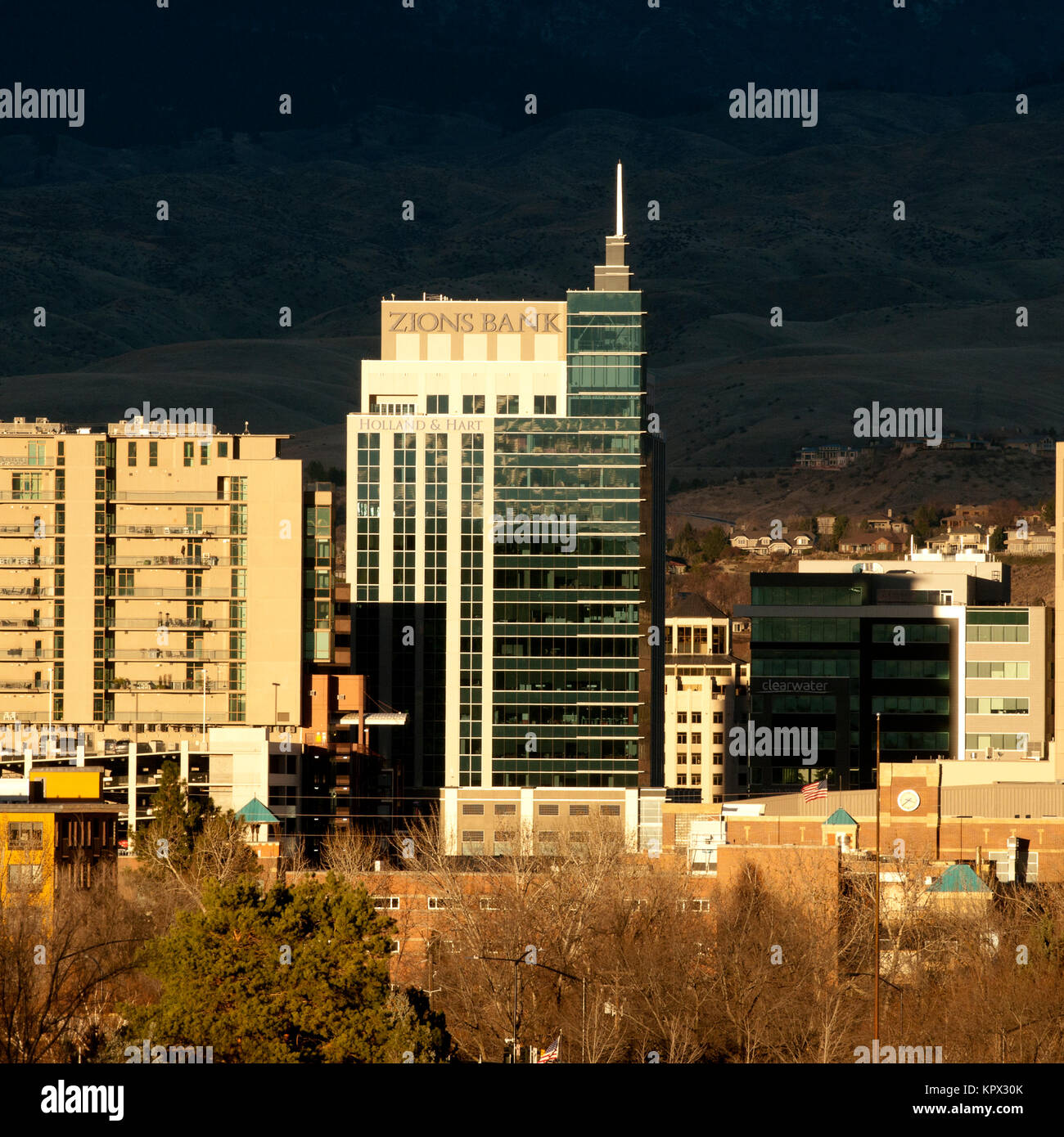 Boise Idaho Stadtbild im Dezember 2017 Stockbild