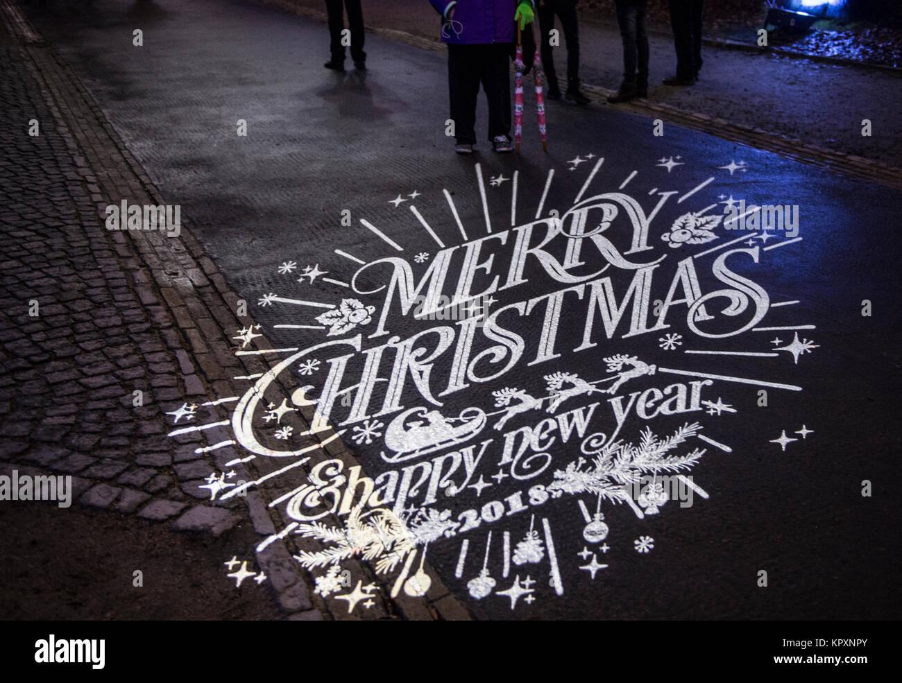 Frohe Weihnachten Berlin.Berlin Deutschland 17 Dez 2017 Frohe Weihnachten Shappy Neues