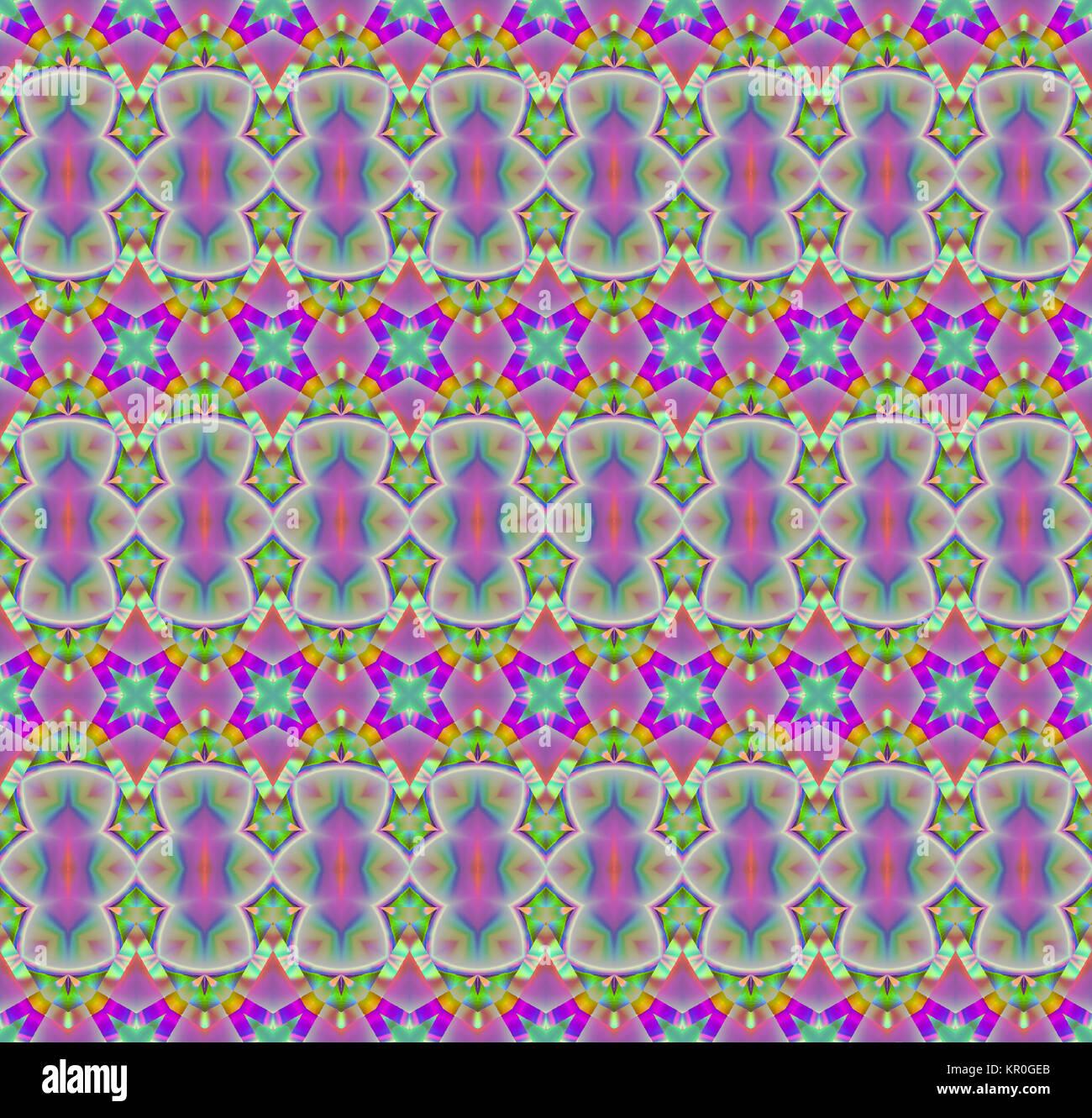 Abstrakte Geometrische Nahtlose Hintergrund Mehrfarbige Regelmassigen Muster Mit Verschiedenen Elementen Magenta Violett Grun Und Gelb Verzierten Vertraumt Bunte Wellenlinien Schwarzen