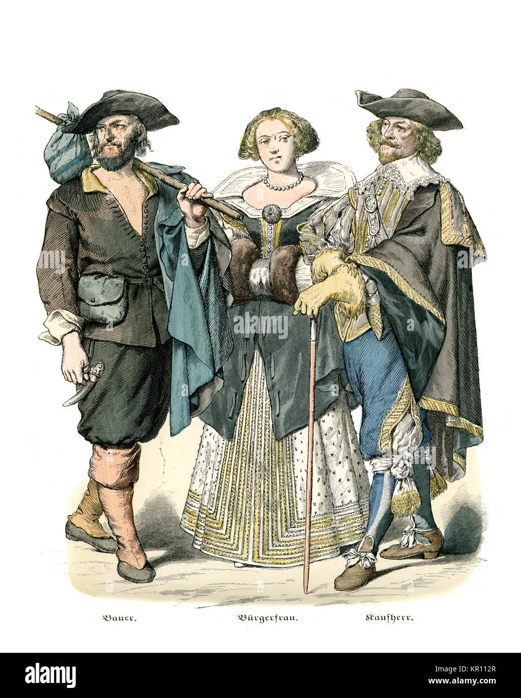 17 Jahrhundert Bild Architektur: Geschichte Der Mode, Kostüme Von Französischen Bauern