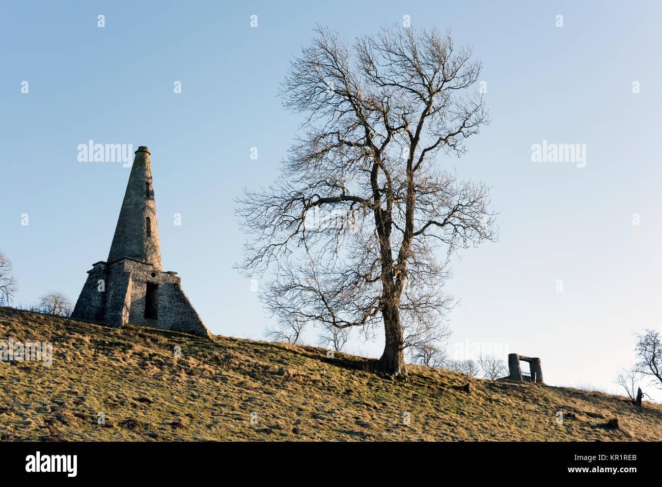 Frau Sykes' Unsinnigkeiten. Sorrelsykes Park, Edgley, Aysgarth, Yorkshire Dales National Park, Großbritannien Stockbild