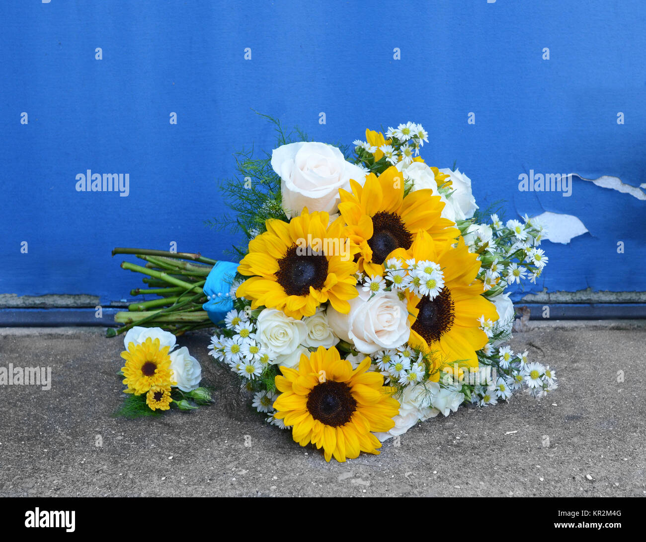 Hochzeitsstrauss Von Sonnenblumen Stockfotos Hochzeitsstrauss Von