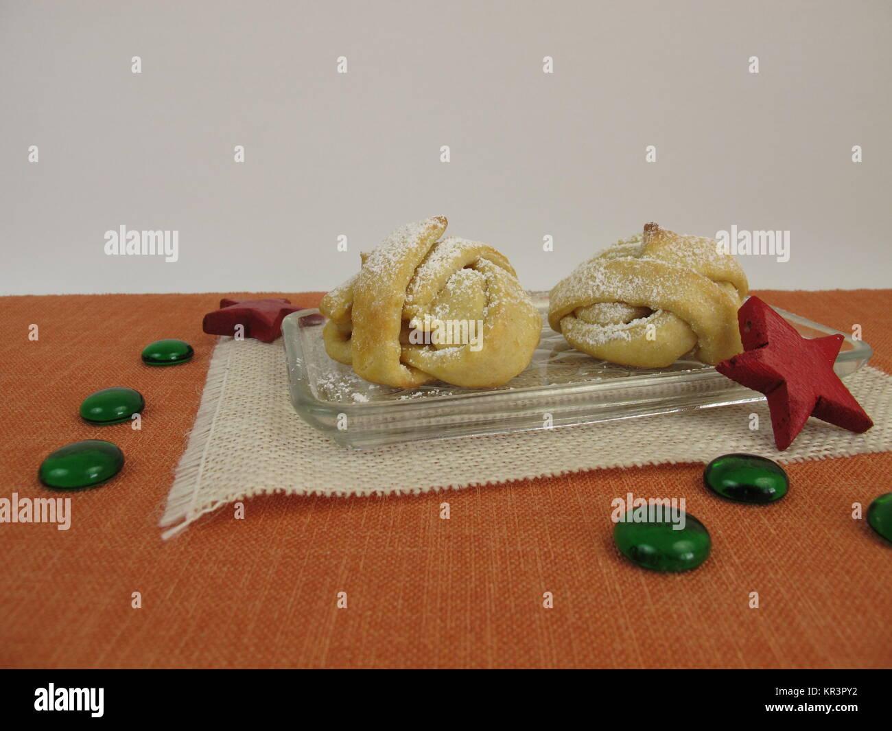Schneebälle Mürbeteig gebacken wie Weihnachten cookies Stockfoto ...