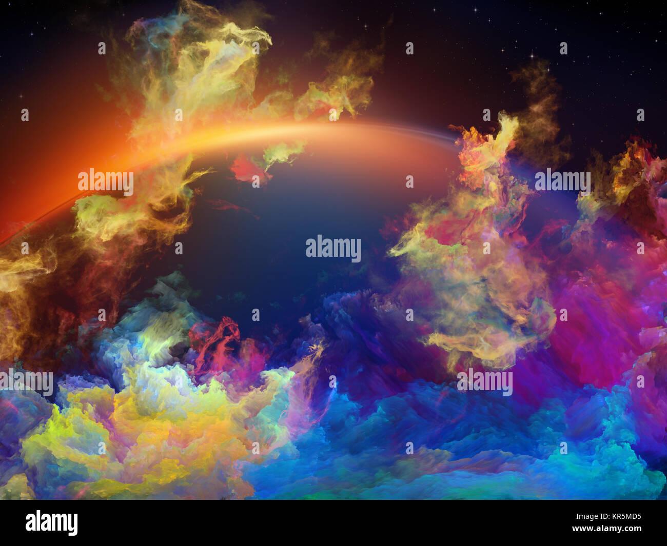 Bunte Raum Nebula Stockbild