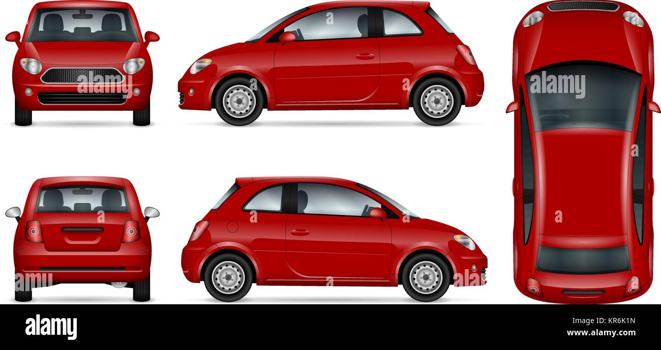 Rotes Auto vector Mock-up für Werbung, Corporate Identity. Isolierte ...