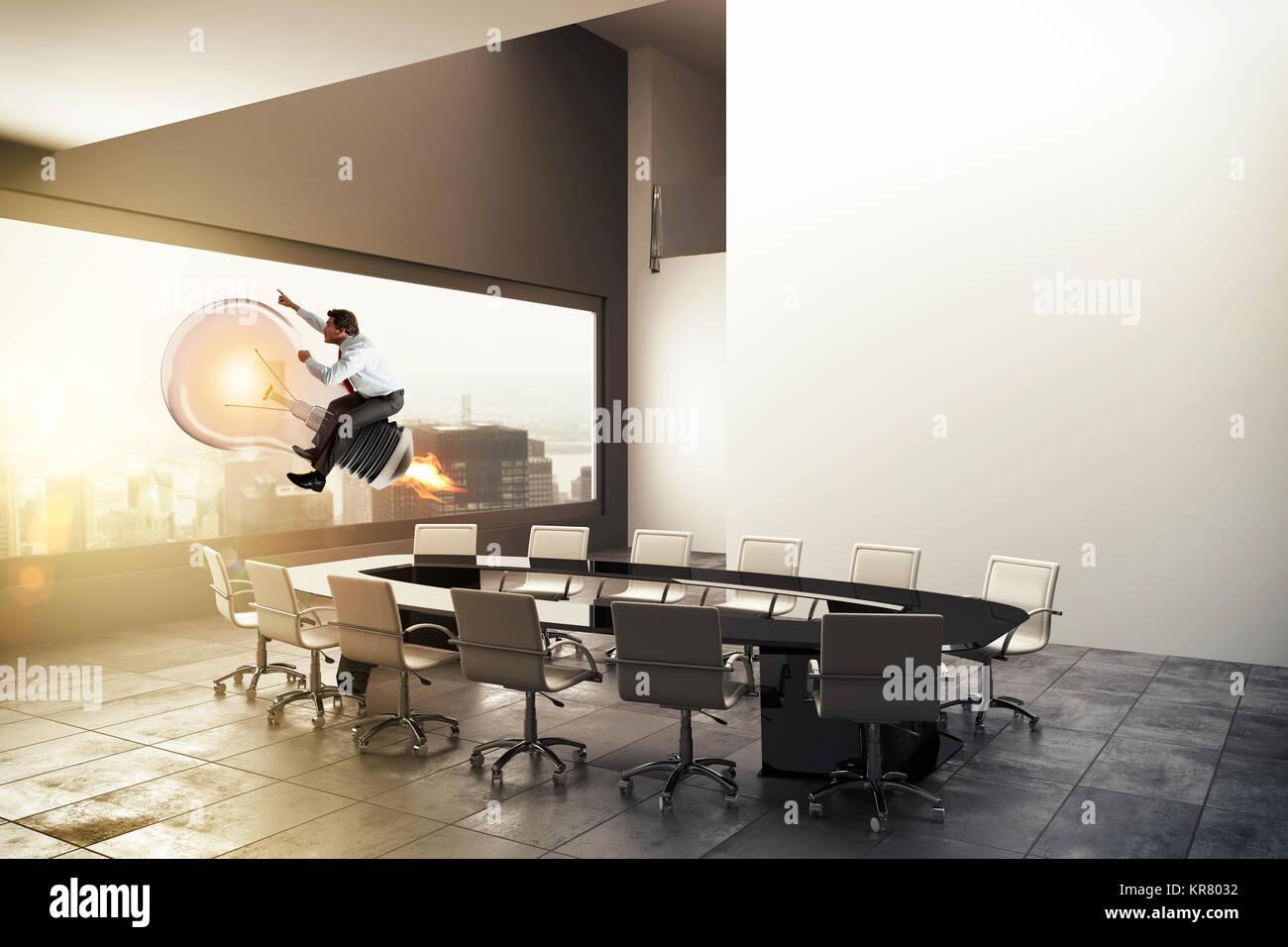Gute Geschäftsidee. 3D-Rendering Stockbild
