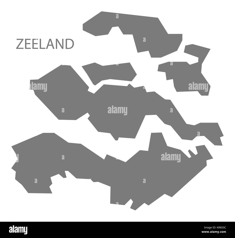 Zeeland Karte Niederlande.Zeeland Niederlande Karte Grau Stockfoto Bild 169210032 Alamy