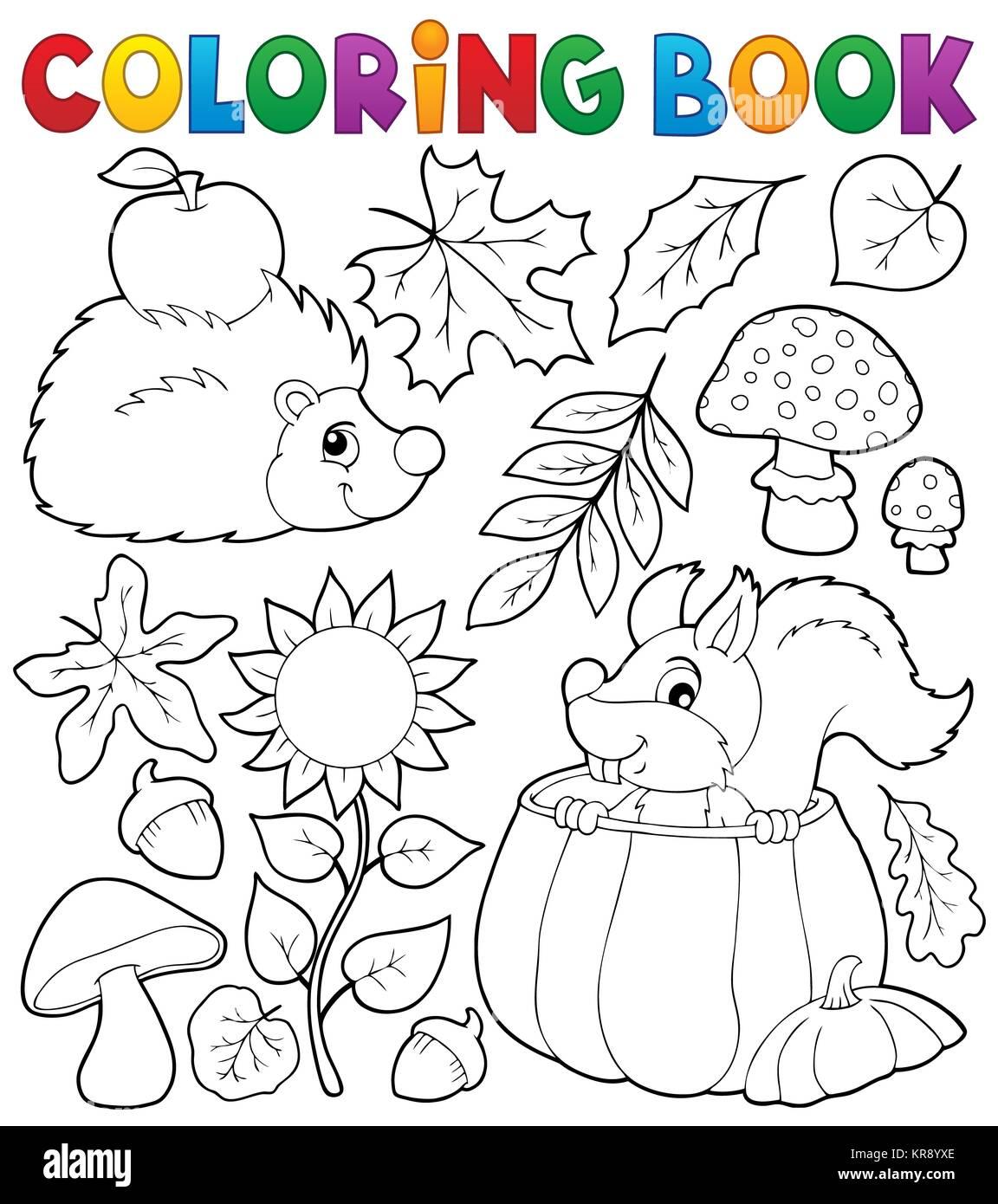 malvorlagen zum herbst  zeichnen und färben