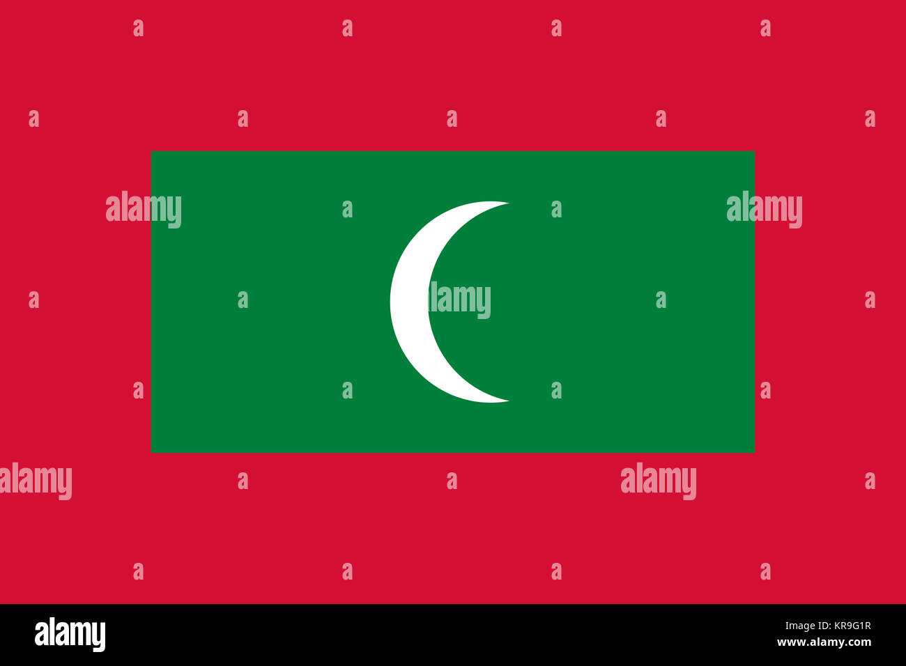 National Flag Maldives Travel Stockfotos & National Flag Maldives ...