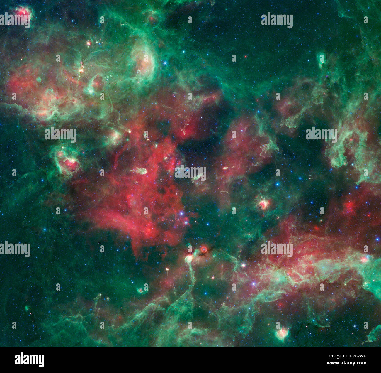 Eine brodelnde Kessel von Star Geburt ist in dieses neue Bild von ...