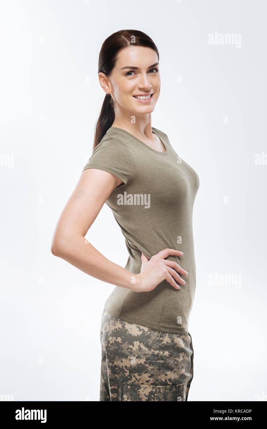 schöne weibliche Marines
