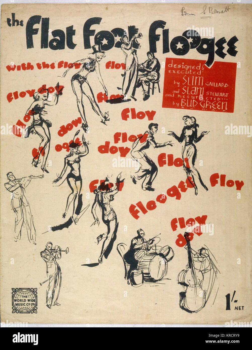 Populäre Musik und Tanz der 40er Jahre Datum: 1940 s Stockbild