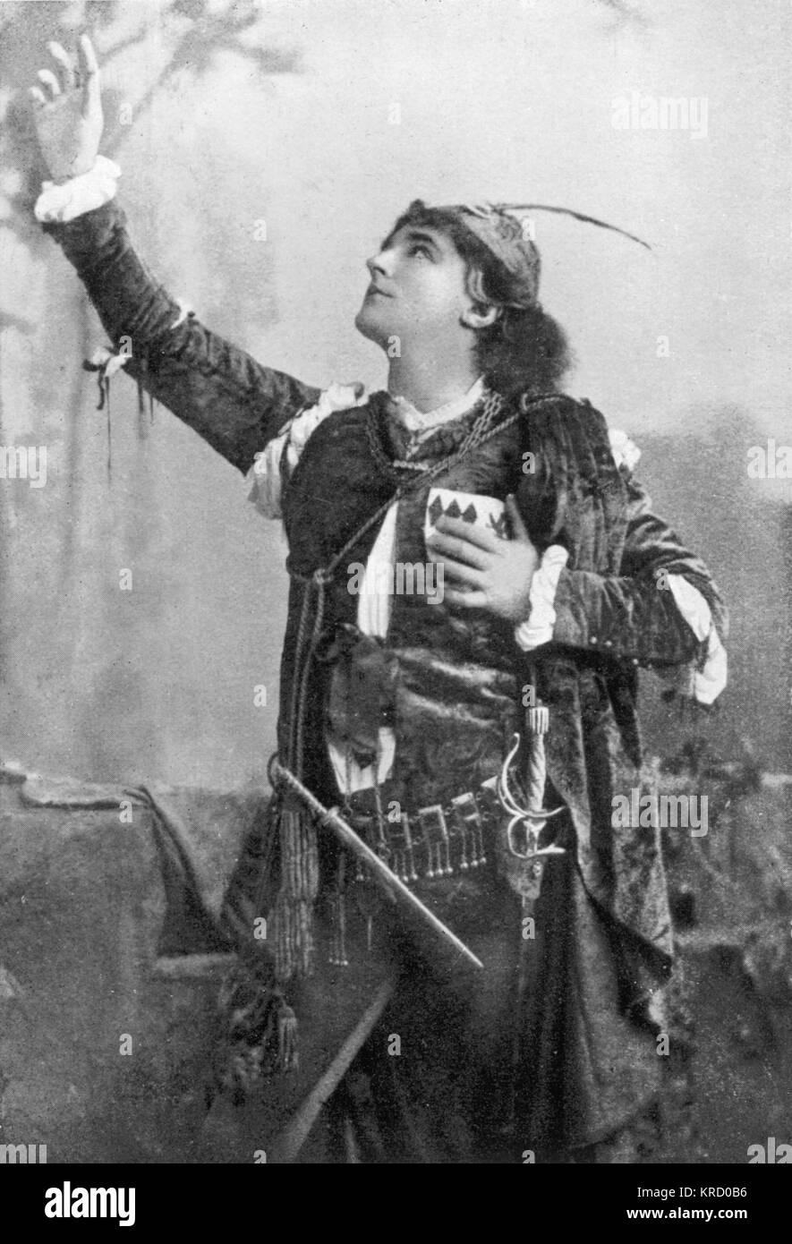 HAROLD KYRLE BELLEW englischer Schauspieler, in Lancashire geboren, in der Rolle des Romeo in Shakespeares Romeo Stockbild