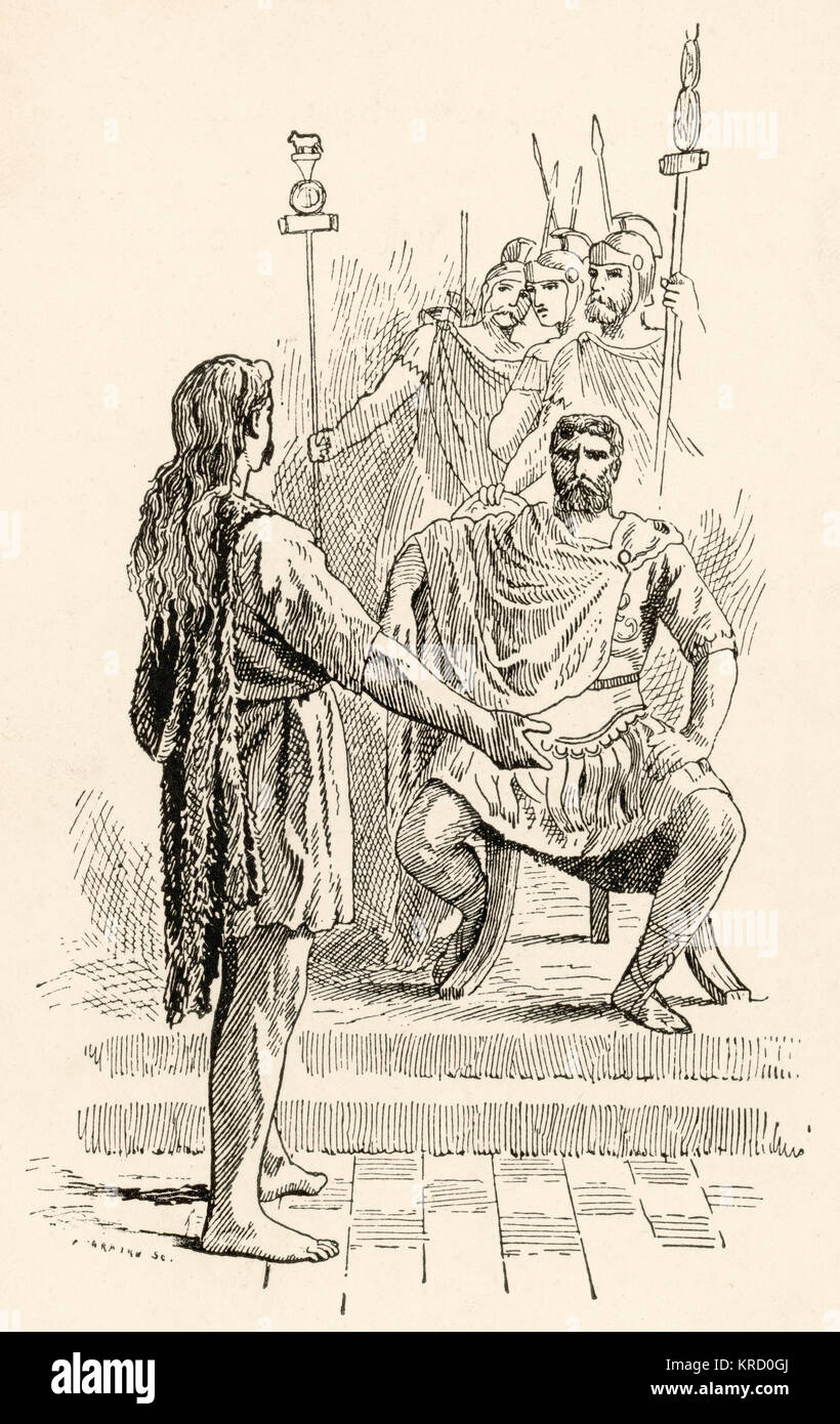 Caratacus war eine historische britische Häuptling der Catuvellauni Stamm, der den britischen Widerstand führte Stockbild