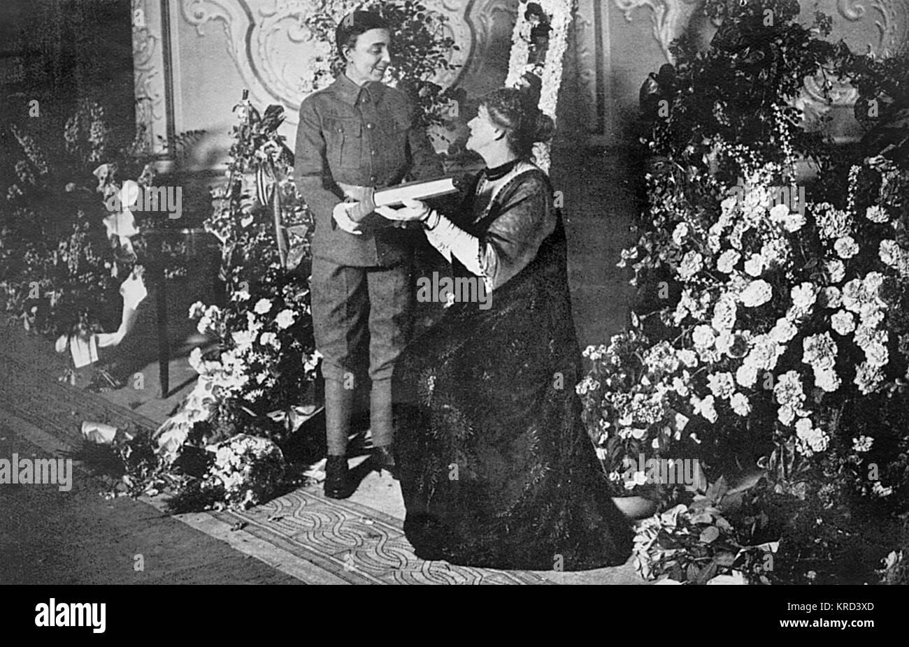 Vesta Tilley (1864-1952), geboren Matilda Alice Powles, später Dame de Frece, Music Hall Schauspielerin, deren Stockbild