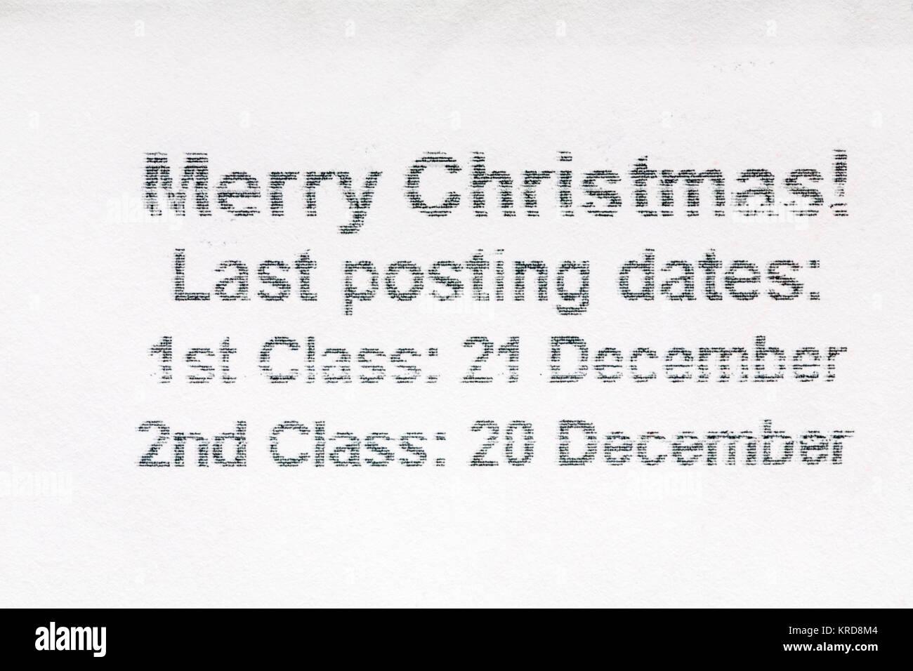 Weihnachten Termine.Letzter Beitrag Termine Für Weihnachten Informationen Auf Umschlag